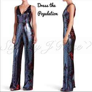 NWT's Dress the Population Sequin Jumpsuit